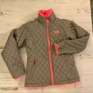 The north face girls reversible jacket M 10/12